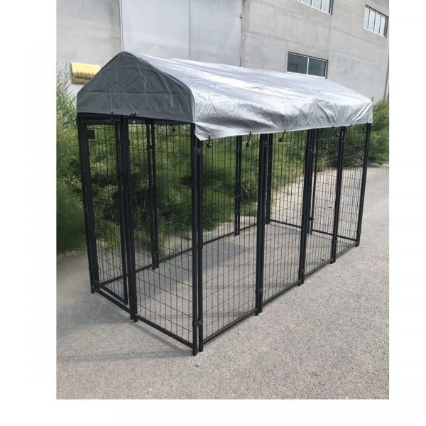 1711668 Pet Enclosure Steel Cage Black Large Sep2017