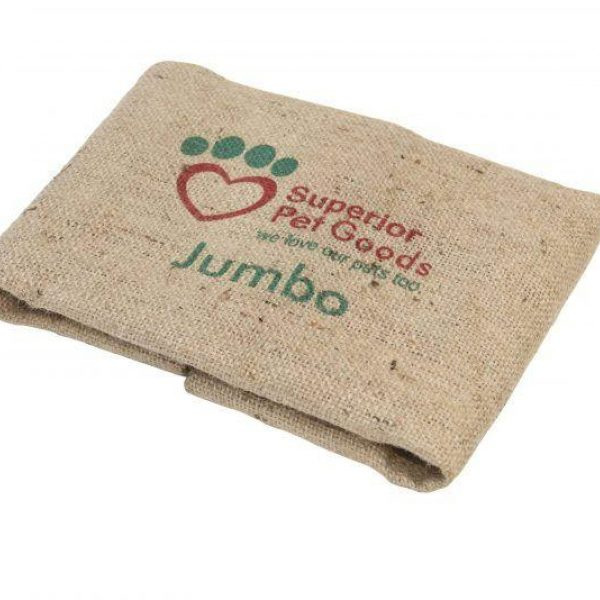 Fitted Hessian Dog Bed Cover Jumbo