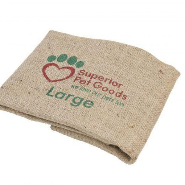 Fitted Hessian Dog Bed Cover Large