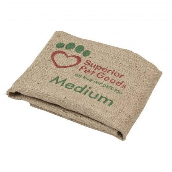 Fitted Hessian Dog Bed Cover Medium