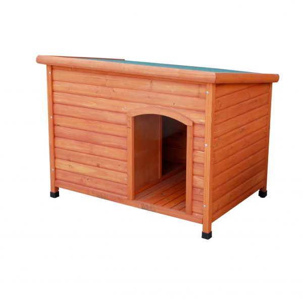 Flat roof brown kennel