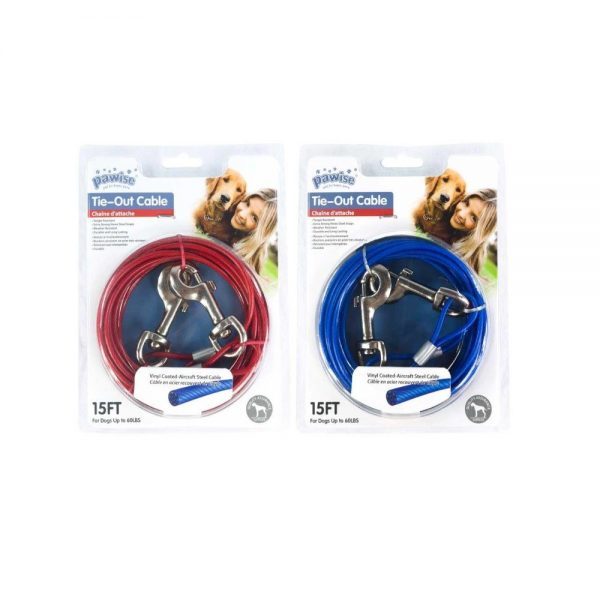 Tie out cable 15ft both colours