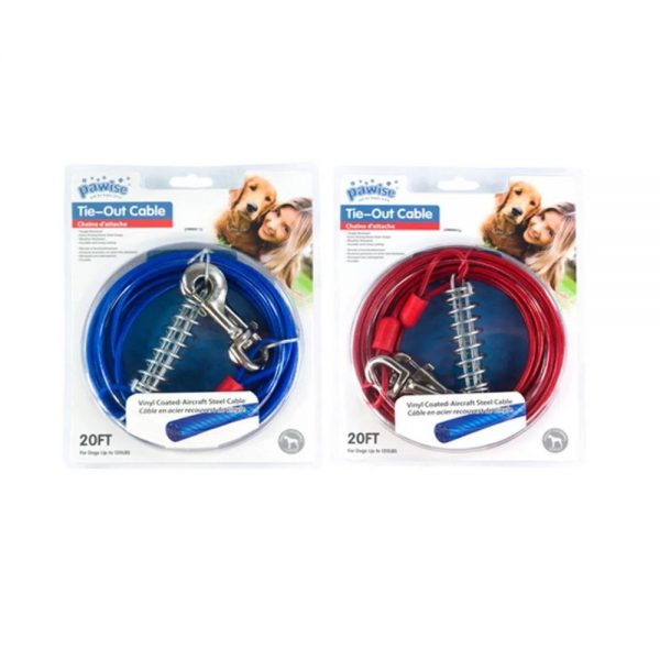 Tie out cable 20ft both colours